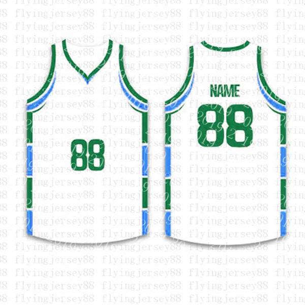 Лучшие Пользовательские Баскетбол Трикотажные мужские Вышивка логотипов Джерси Бесплатная доставка Дешевые оптовая любое имя любое число Размер S-XXLjh