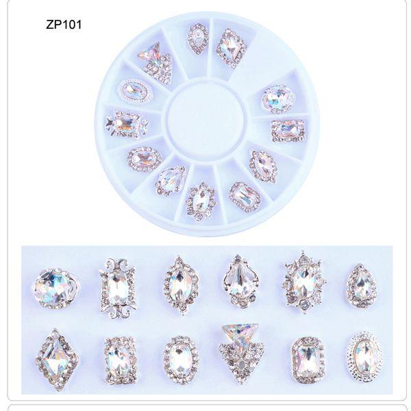 2019 1Wheel Nail Stones Crystal 3MM-4MM Nail Rhinestones 12pcs/wheel Stone Gems Glitter UV Polish Stones&Crystal Art Decor
