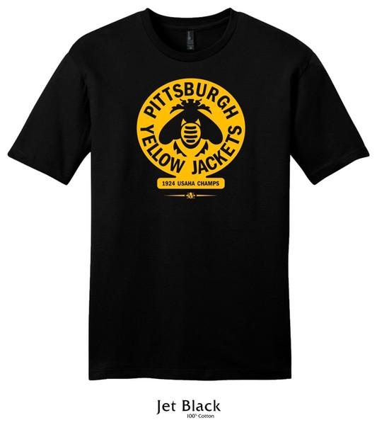 Tee shirt Hockey Pittsburgh Yellow Jackets 1924 USAHA Champs - Vintage Penguins Drôle livraison gratuite Unisexe Casual Tshirt