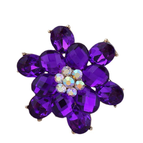 2019 Crystal Brooch Pins For Women Flower shape Brooches Jewelry Fashion Wedding Party dress accessories women free shipping 10pcs/lot