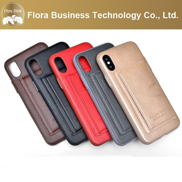 2019 cas mobile récent téléphone soie Grain PU coloré portefeuille de cartes de crédit Housse en cuir Mobile pour iPhone X XR MAX pour Samsung
