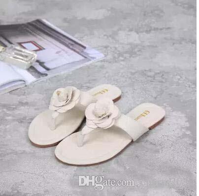 Pop 2019 Sale Fit Summer Women's Floral Slippers Female's Flip Flops Flowers Slippers Pvc Sandals Camellia Jelly Shoes Beach Shoes