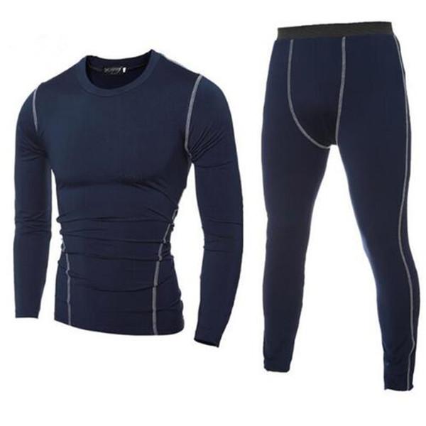 Top qualité nouvelle chemise thermique hommes sous-vêtements ensembles Compression Fleece Sweat séchage rapide Thermo Tee Men Army