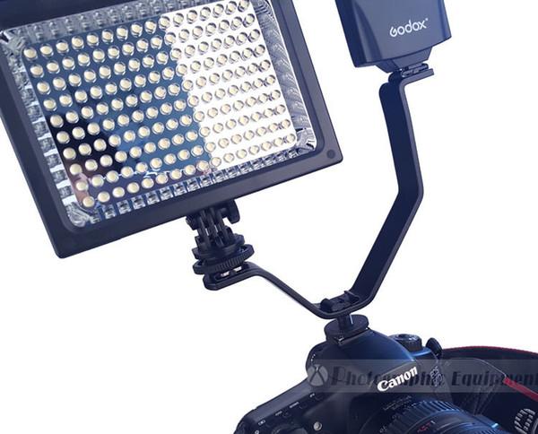 DSLR Camera Flash stare caldo adattatore slitta microfono / videl treppiede leggero Supporto (V) del metallo Photo accessori dello studio
