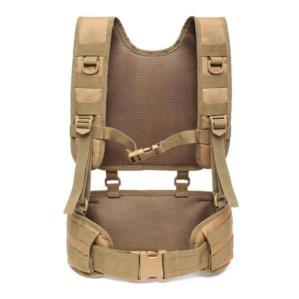 Cintura da battaglia imbottita tattica di addestramento all'aperto Cinturini rimovibili per bretelle Cintura da combattimento con cuscinetti Attrezzatura da campeggio