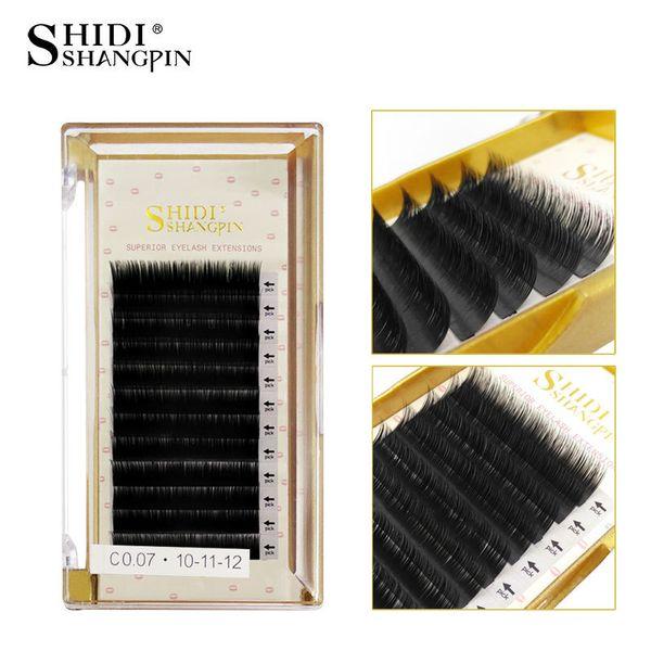 Natural Mink Lashes 8-12mm C Curl 3D Black 0.07 mm Fiber Lash False Eyelashes Extension Beauty Tips Big Eyes tools