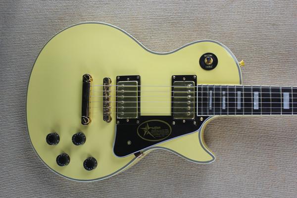 Hot Sale Custom Shop Randy Rhoads Rosewood/ Ebony Fingerboard Cream Yellow Electric Guitar Golden Hardware Free Shipping Electric Guitars