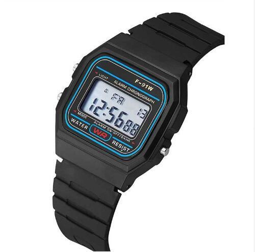 Led Dijital Siyah plastik saatler erkek Spor İzle aydınlık Çok Fonksiyonlu Dijital Kol Saati reloj hombre 2019 relojes
