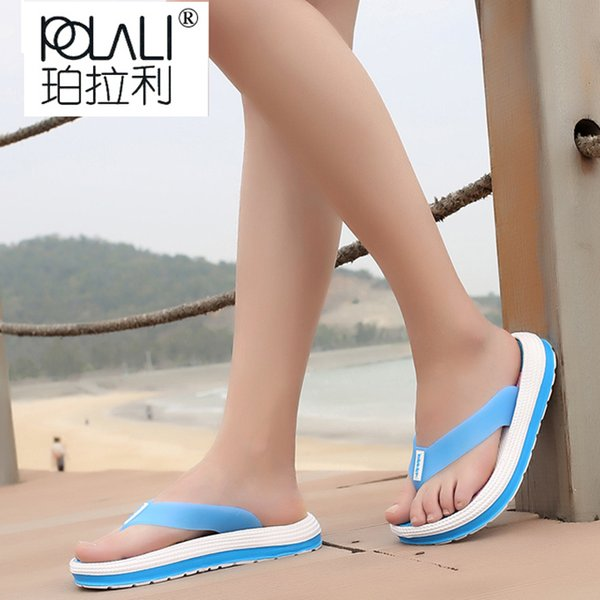 POLALI Summer Men Flip Flops Male Mixed Color Slippers Casual PVC EVA Shoes Summer Fashion Beach Slipper Shoe Size 36-41