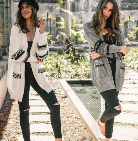 Оптовая осень женской Вязаные Роскошный с длинным рукавом свитер для женщин тавра способа Кардигана Леди свитера пальто S-3XL Доступного