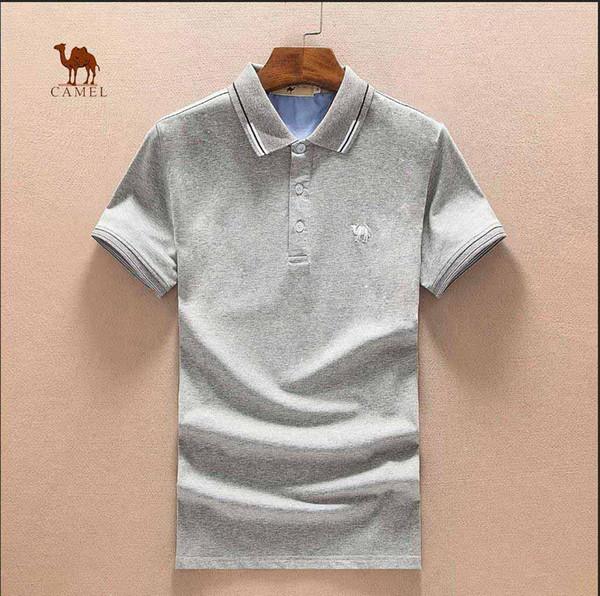 SS CAMEL marca Tshirt Moda de rua camisa Marca de pônei de alta qualidade Selvagem Venda quente polos Marca de novidade de luxo Polos de pedidos particulares Entrega gratuita