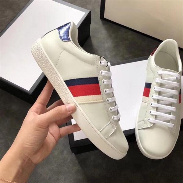 Italie Abeille Vert Rouge Stripes Hommes Femmes Sneaker Chaussures Casual 2019 pas cher à la mode Ace Styliste marche Baskets Chaussures pour Hommes