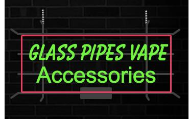 GLASS PIPES VAPE Accessories Led Glass Tube Neon Signs Lamp Lights Advertising Display Bar Decoration Sign Metal Frame 17'' 20'' 24'' 30''