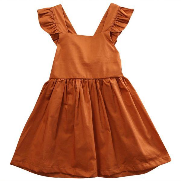 Summer 2019 Baby Girls Infant Wedding Party Bowknot Sleeveless Ruffled Vest Backless Dress Sundress NEW