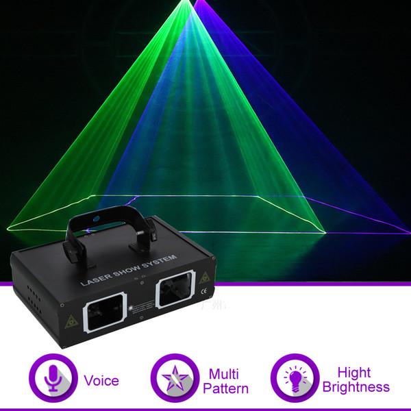 Doule Lens Green Blue Color DMX Beam Network Laser Projector Light DJ Show Party Gig Home KTV Stage Lighting Effect 506GB