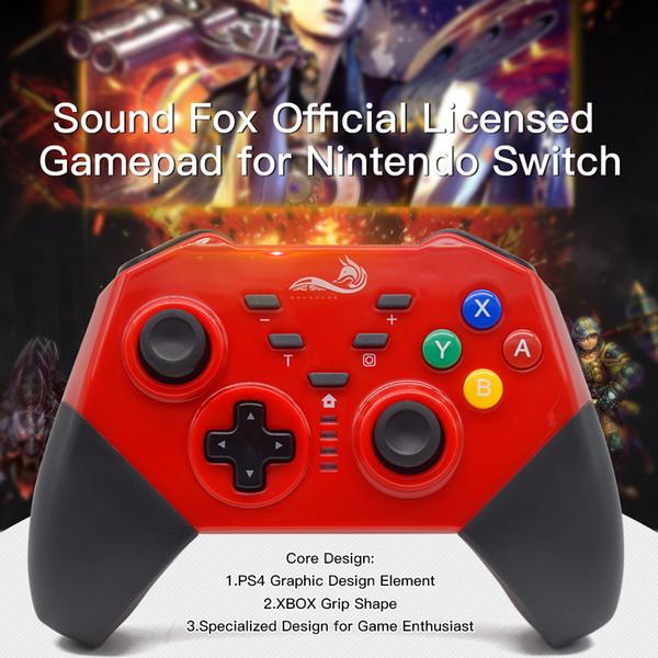 Soundfox Wireless Controller Für Nintendo Switch Gaming Joypad Gamepad Bluetooth Controller Unterstützung Somatosensorische Vibration Spiel Zubehör