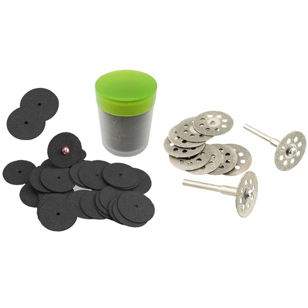 NEW 5pce Vented Diamond Cutting Disc Kit Hobby for Dremel Including Mandrel