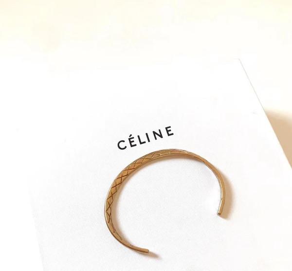 Designer Luxury Accessories Alloy Dio Argento a doppio strato Tie Arrow aperto bracciali per le donne gioielli braccialetto