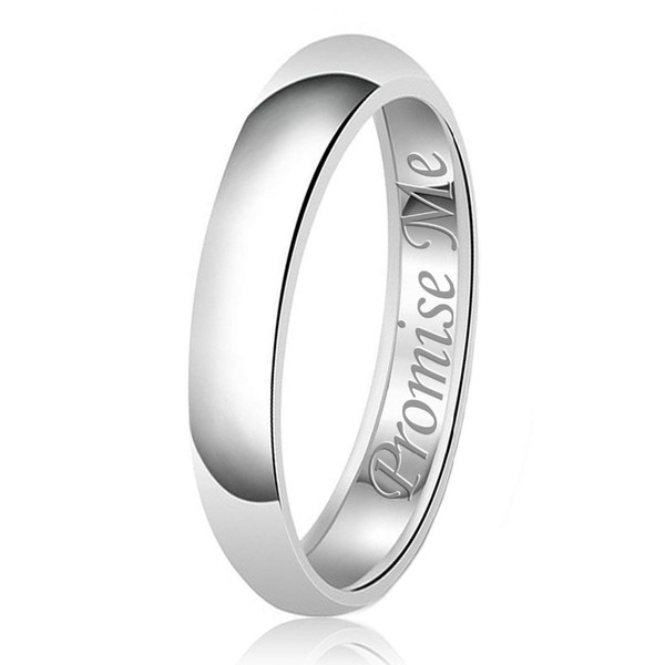 Amxiu Custom Name Words Engagement Wedding Ring 100% 925 Sterling Silver Rings For Women Lovers Surprise Gifts Finger Jewelry