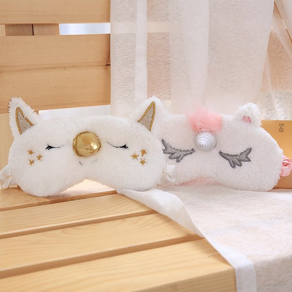Sleep Unicorn Mask 2 Colors Cute Cartoon Blindfold Eye Shade Cover Party Masks for Girl Kid Traveling Free Shipping