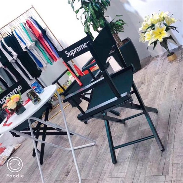 Solid Wood Folding Chair Fashion High Quality Director Chair Spray Lacquer Fishing Field Camping Chair Red Black