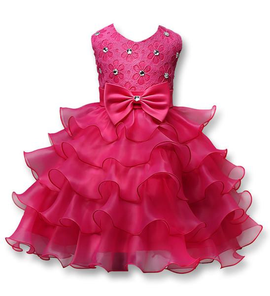 High Quality Party Girls Dress Elegant Christmas Performance Kids Dresses For Girls Clothes Children Princess Kids Wedding Dress