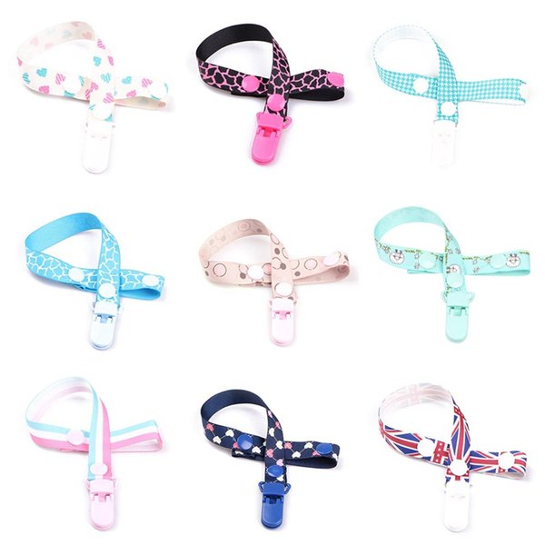 Baby Teether Toy Belt Clip Pacifier Chain Clip Holder Tooth Rubber Lanyard Nursing Teether Dummy Soother Nipple Leash Strap