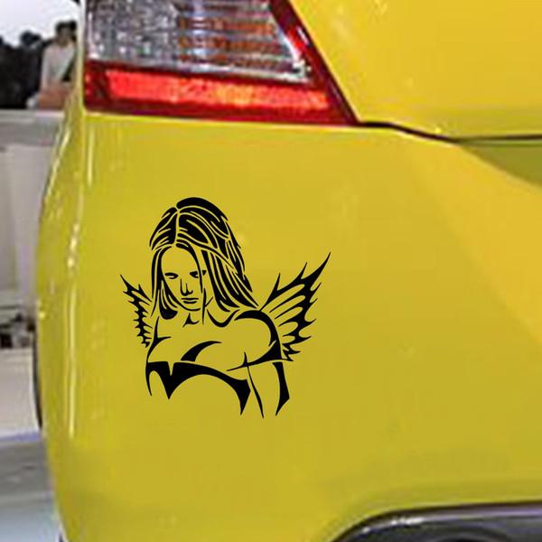 Lady in car-voiture fenêtre pare-brise panneau de carrosserie pare-chocs autocollant vinyle autocollant
