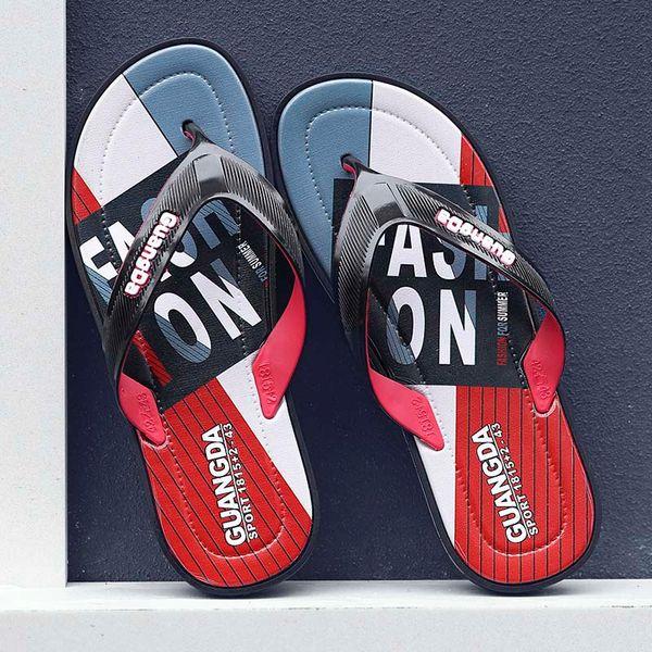 new Black Rubber Slide Sandal Slippers blue Red black Stripe Fashion Design Men Women Classic Ladies Summer Outdoor Flip Flops