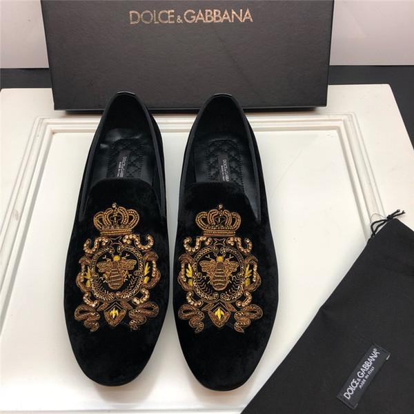 2019 novos high-end de luxo dos homens de negócios de lazer sapatos de moda confortável top qualidade sapatos de veludo de couro tamanho 38-45