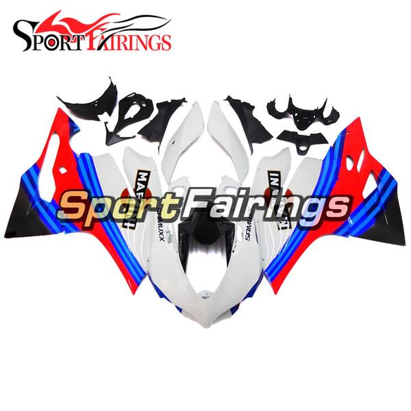 Mavi Kırmızı ve Beyaz Motosiklet Çerçeveleri Fairing kiti 2012 - 2013 Ducati 899/1199 Yüksek Kalite Komple Plastik Fairings 2012 2013 Gövde