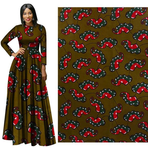 new arrive African Wax Print Fabric new Wax Hollandais Fabric Ankara African Batik Breathable Cotton Green Dot Fabric free ship
