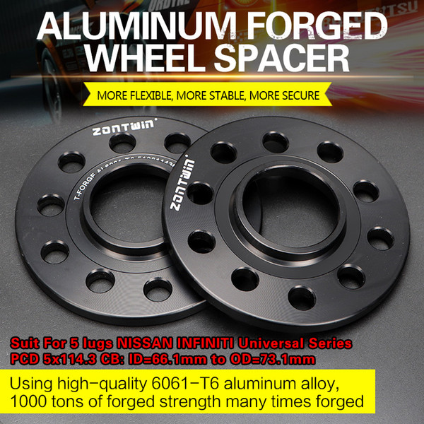 Wheel Spacer Adapters 40 mm 5x139.7 to 5x114.3 Hub Centric A Set of 2