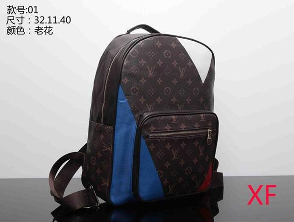 Women's Casual PU Leather Backpacks For Teenage Girls Backpack Women Floral Retro Mochila Escolar Shoulder Bag Designer School Bags Bolsa 01