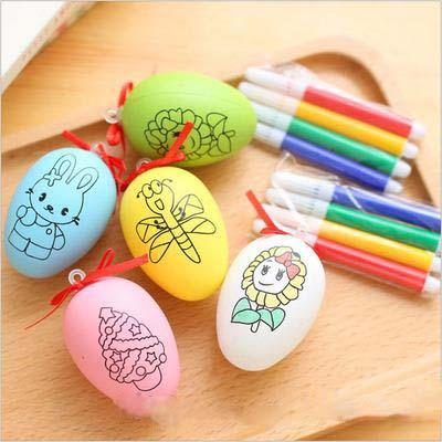 top popular kids educational toys Creative DIY Cartoon eggshell baby Learning Pencils Coloring Education Toys gift for baby 2019