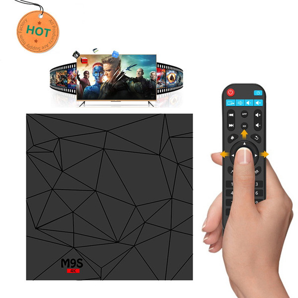 Best M9S W5 TV BOX 2GB 16GB Quad Core Amlogic S905W Smart Box Android 7.1 TV Streaming Boxes Media Player 2.4G WiFi 4K H.265 Set Top Box