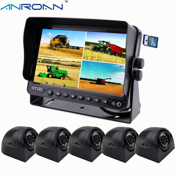 "Anroan Car 7"" DVR Monitor System Heavy Duty Truck Camera Side Camera Rear View Camera Kit AN7DI8"