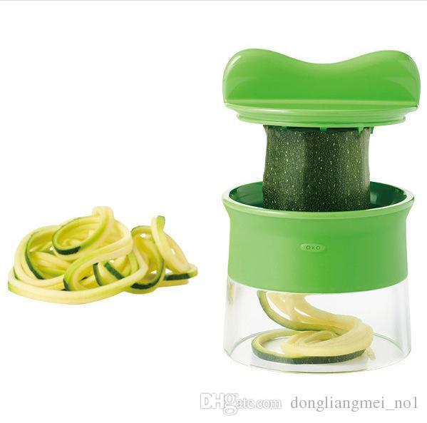 DLM2020 El Sebze meyve dilimleyici Spiralizer Spiral Mutfak alet Sebze Dilimleme İmha Soyma Kesici Havuç Rende wn362C