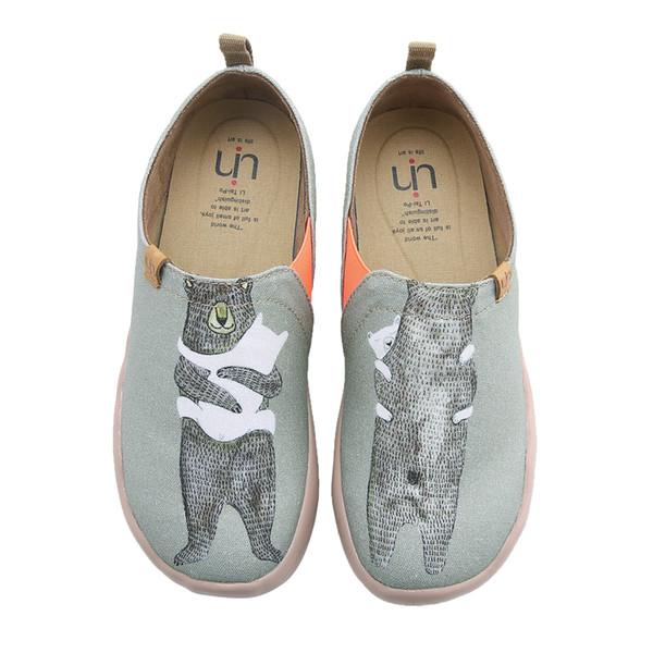 UIN Kostenlose Lieferung Bär Umarmung frauen Colosseum Travel Canva Schuhe Mode Kunst Flache Loafer Sneaker s Slip-On Damen Loafer,