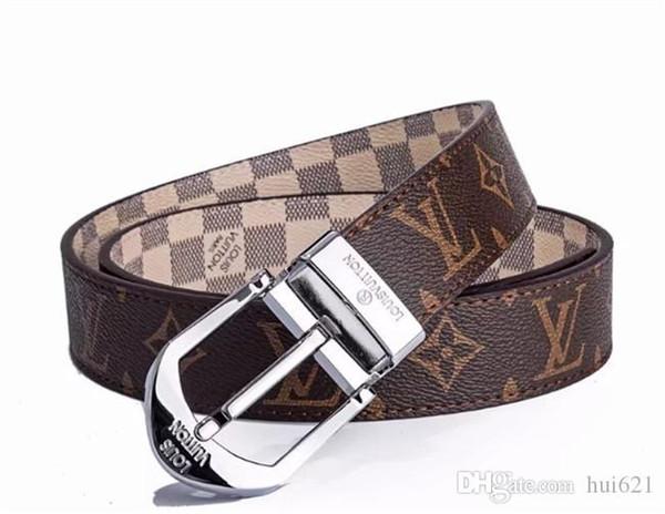 Cintura di marca di moda Cintura di cuoio degli uomini del progettista di lusso di alta qualità H Fibbia liscia Mens Cinture per le donne1 g fibbia della cintura Jeans Cinturino di mucca