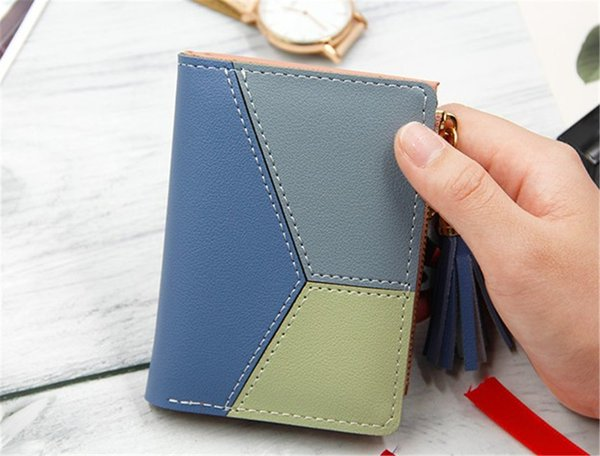 Designer Handbags Purses Fashion Short Ladies Zipper Wallet with Sulphur and Big Volume Change Card Bag Hot Sale Cute Mini Girl Purse