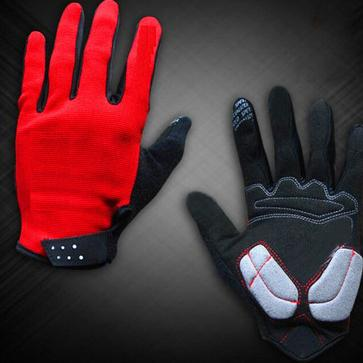 top popular Cycling Gloves Mesh Cycling Portective Gear Gloves Silicone Palm Pad Full Finger Motorcycle Gloves 2 Colors ZZA923 2019