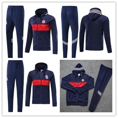 2019 2020 Bayern Munich Hoodies Jacket Kits 19 20 JAMES MULLER Long Sleeve Soccer Tracksuit Mens Bayern Hooded Training Suits sportswear