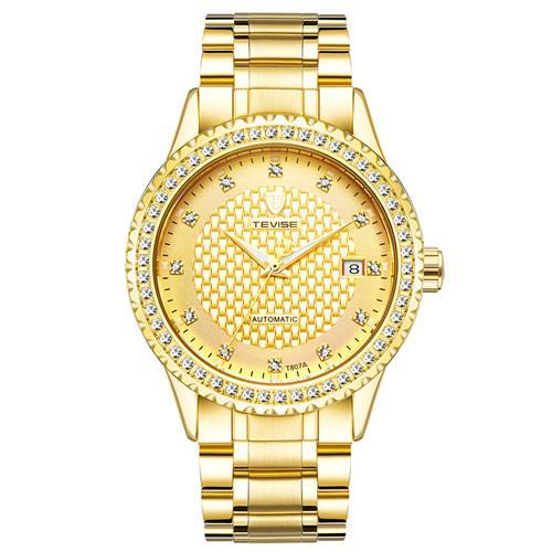 2018 Nueva marca mecánico Reloj automático amantes Relojes Mujeres Hombres Vestido Relojes Vestido de cuero Relojes Moda Casual Relojes