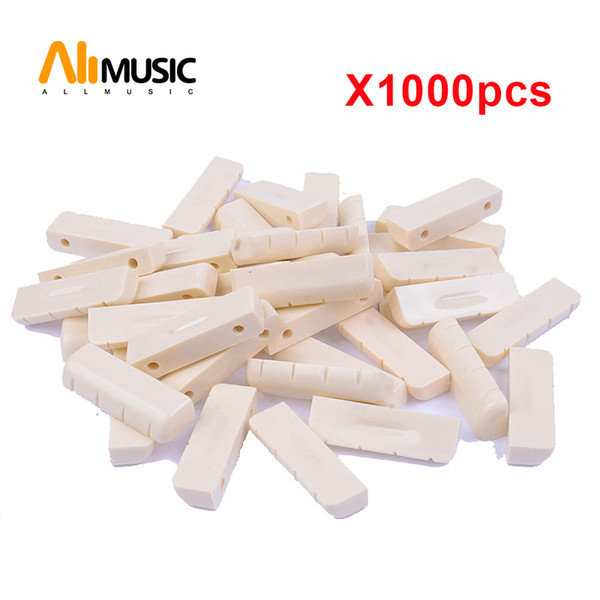 top popular Ivory Plastic R400 43x3.4x4.6-3.8MM Electric Guitar Nut Electric Guitar Parts Electric Guitar DIY Parts Wholesale Free shipping MU1244 2019