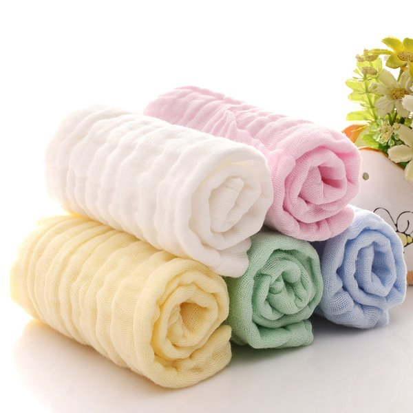 Baby Towel 6 Layers Cotton Gauze 20*20cm new born Towel Kids Handkerchiefs infant Newborn Feeding Slobber Towel F03