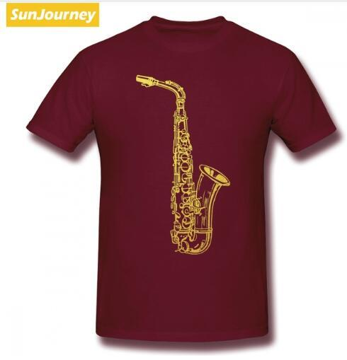 mens designer clothes brand polo Saxophone Jazz Music Men T Shirt Drop Shipping Vintage Plus Size O-neck Cotton Custom Short Sleeve T Shirts
