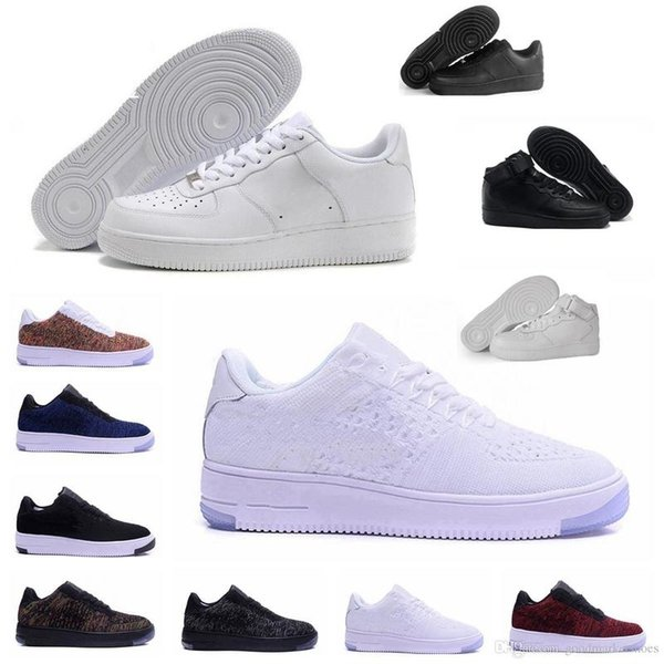 Hombres Zapatos de moda Low One 1 Hombres Mujeres China Zapatos casuales Fly Designer Royaums Tipo Breathe Skate Knit Femme Homme 36-45