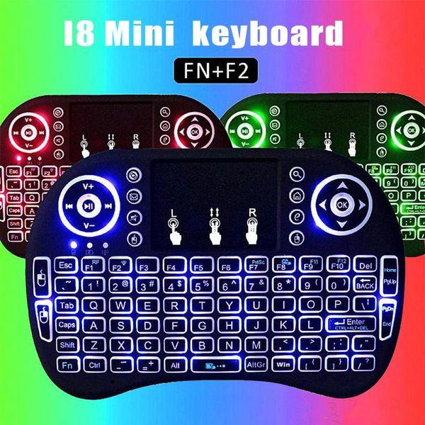 Mini I8 Backlit Wireless Touchpad Tastatur Maus Multifunktions für PC Pad Android TV Box mit Kleinpaket