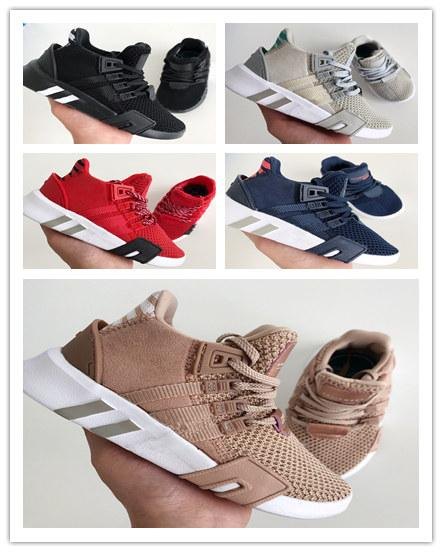 2019 kids EQT Bask Support Future EQT Running Shoes Triple White black pink kids Womens Sports Knit Chaussures Sneakers Trainers